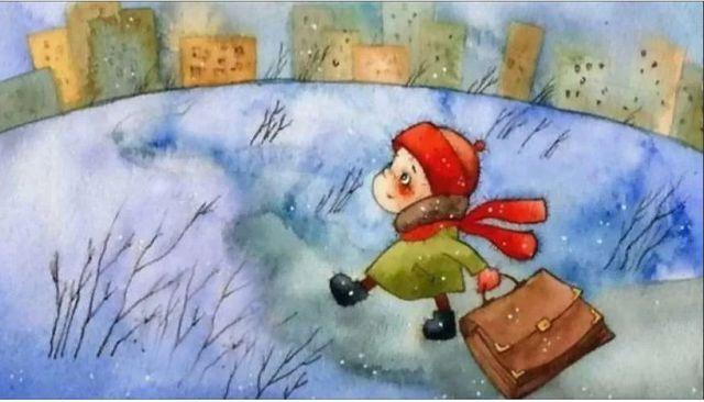 1 сентября Снежка идет в школу